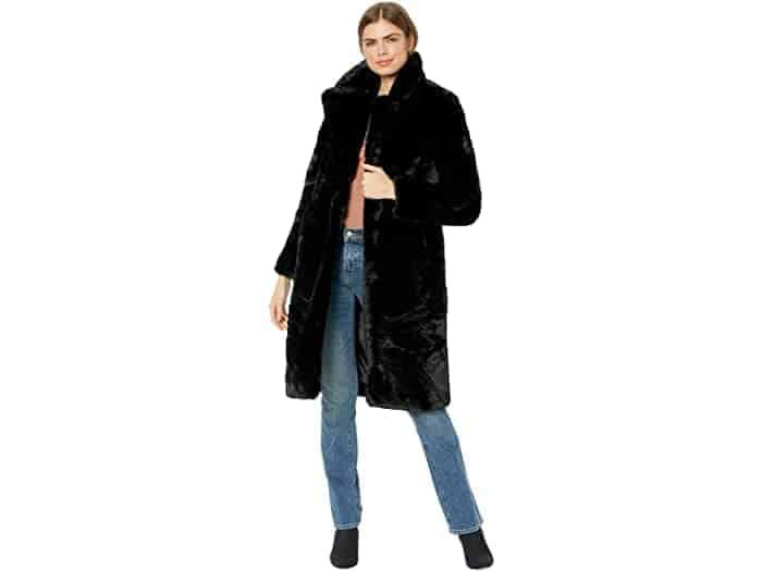 Woman wearing a fur coat.