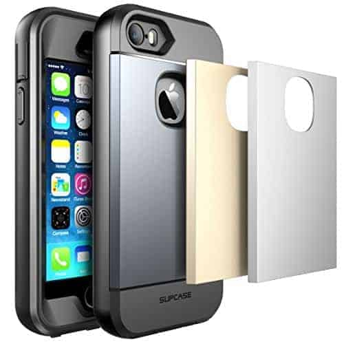 iPhone 5S Case, SUPCASE Water Resist Full-Body Rugged Case - Space Gray/Silver/Gold