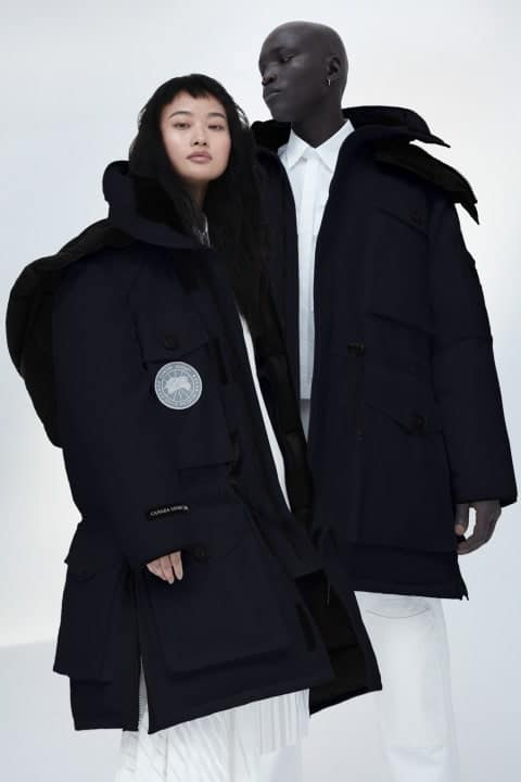 Couple wearing Parka jackets.