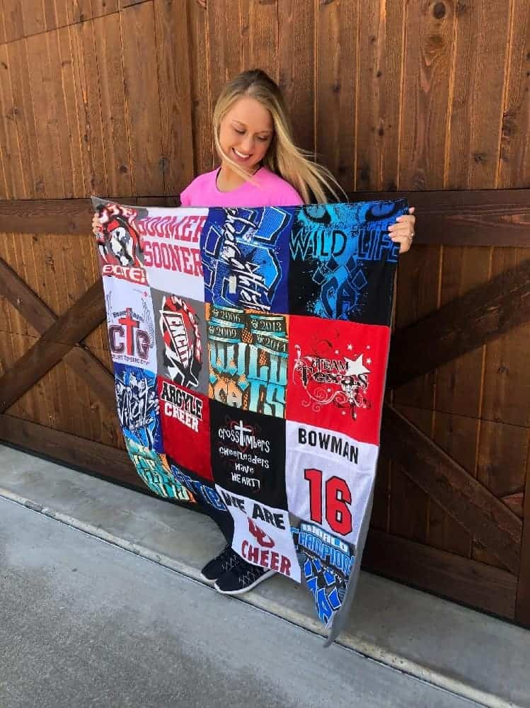 A T-shirt blanket from Project Repat.