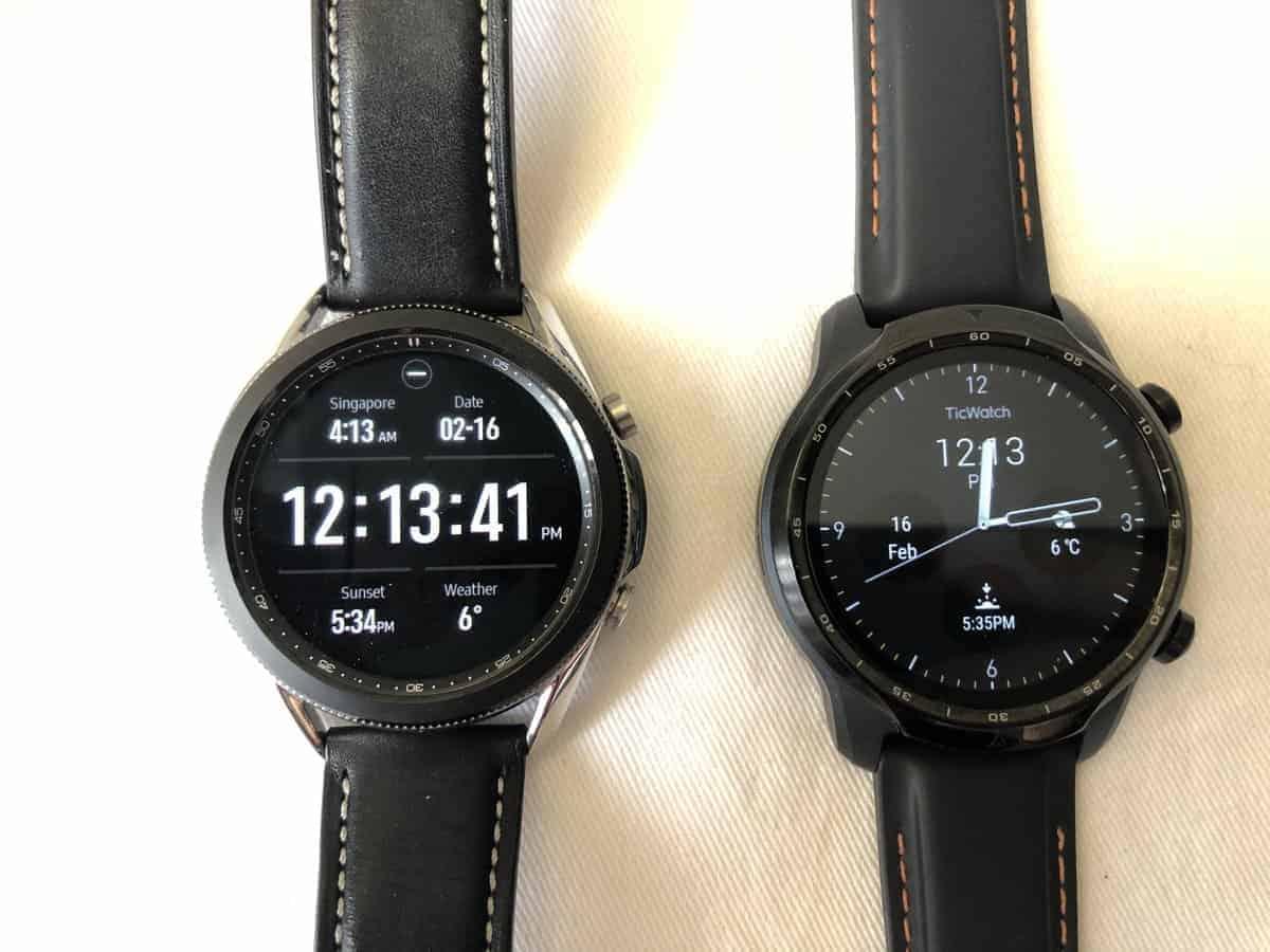 samsung galaxy watch 3 vs ticwatch pro 3