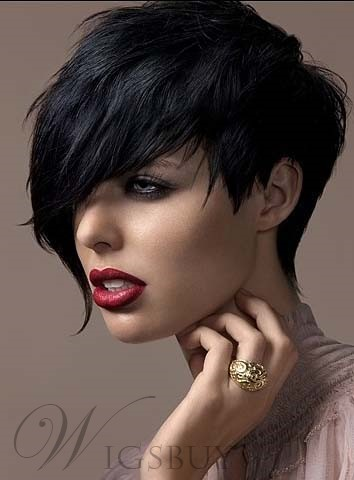 Short Hairstyle Synthetic Straight Hair from WigsBuy.