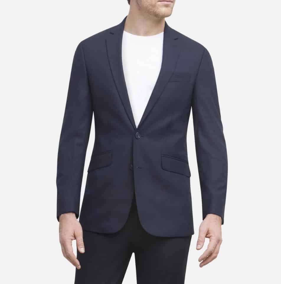 Man wearing a suit jacket.