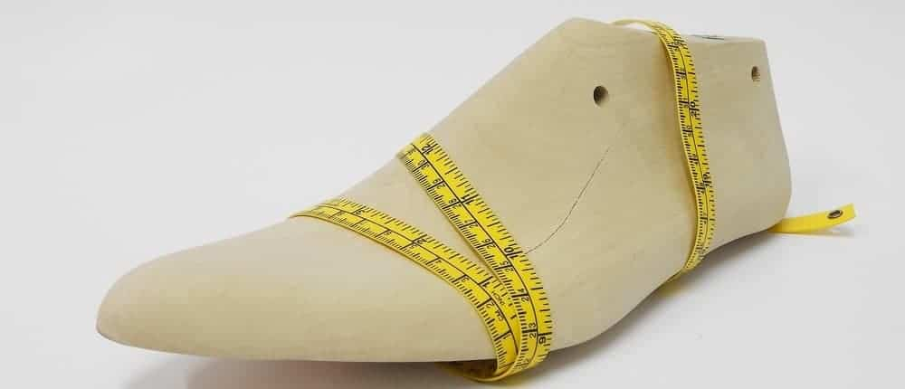 This is a look at a couple of items used for measuring shoe size.