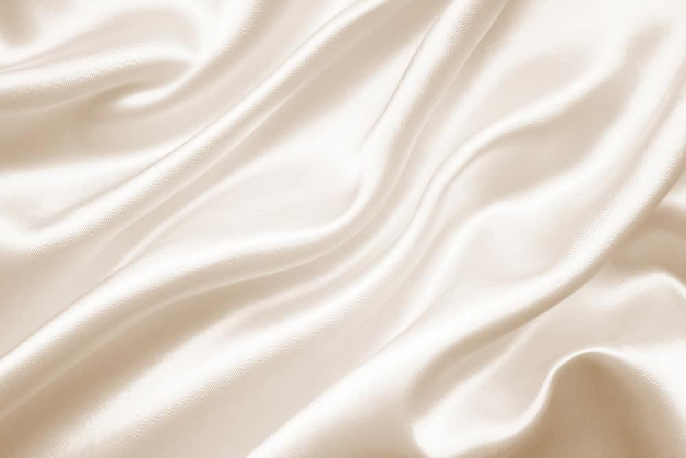 A close look at a pearly white silk cloth.