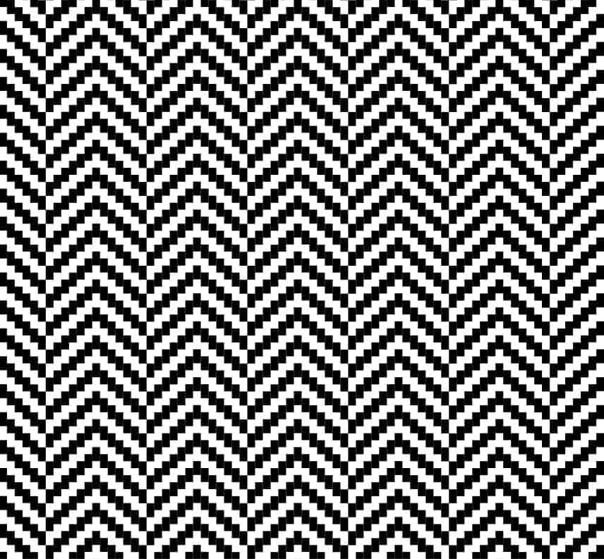 A close look at an illustration of a herringbone twill pattern.