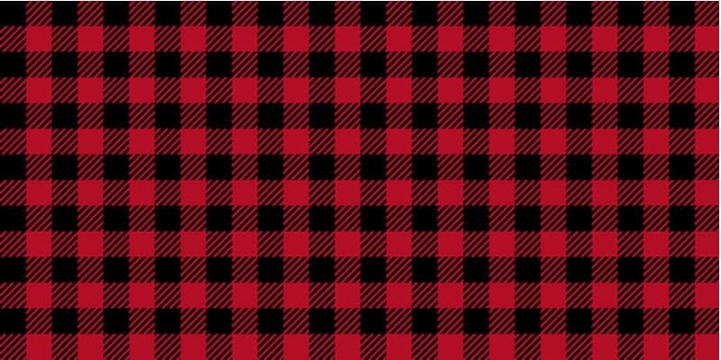 A close look at a red and black flannel twill pattern.
