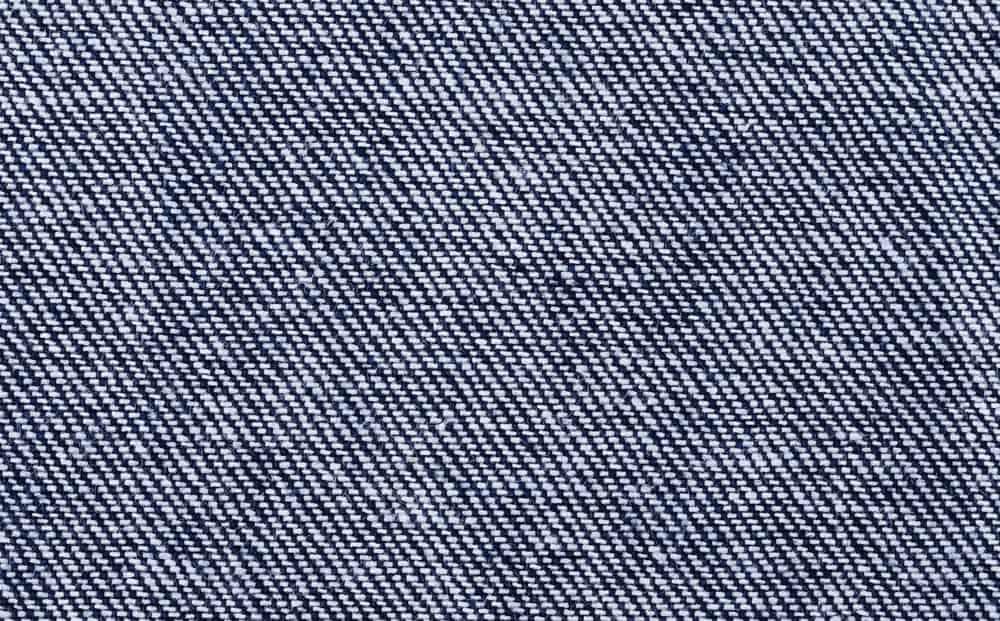 A close look at a denim twill pattern.