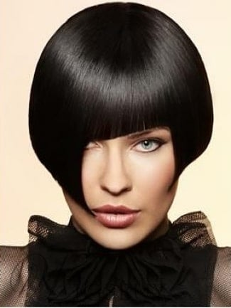 Cut Bob Hairstyle with Unique Fringe from WigsBuy.