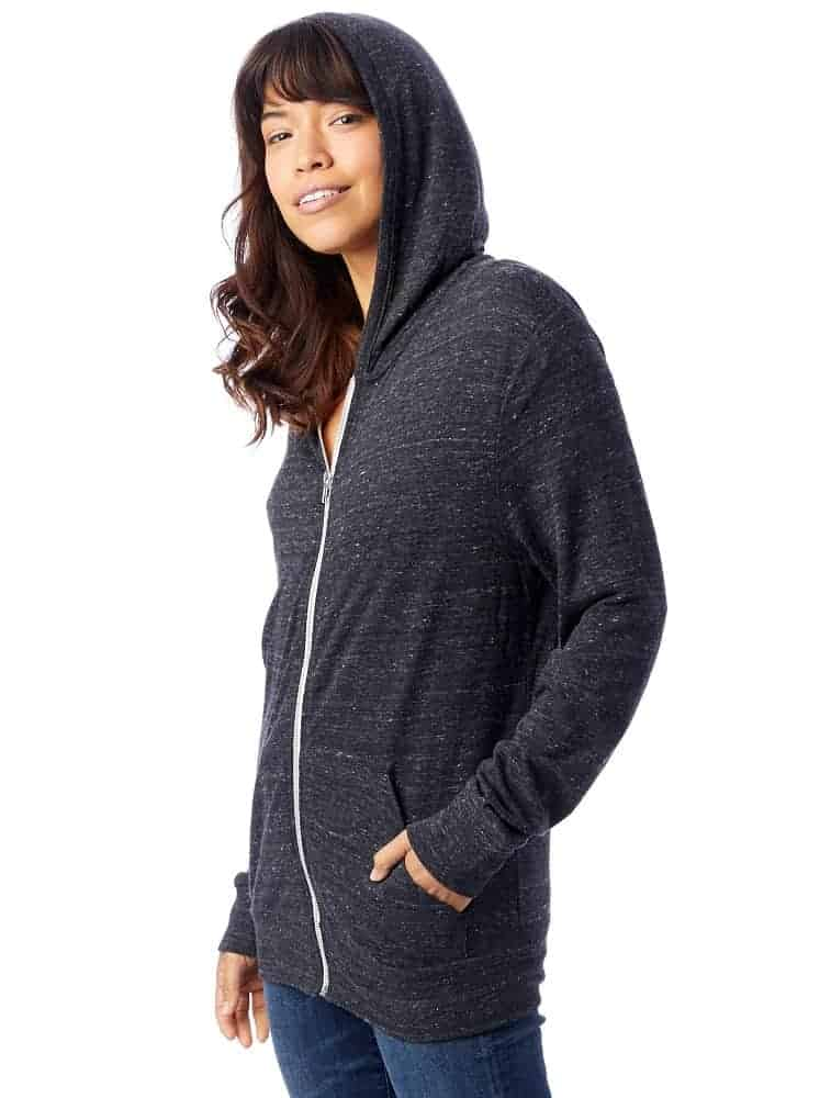 The Basic Eco Jersey Zip Hoodie from Alternative Apparel.
