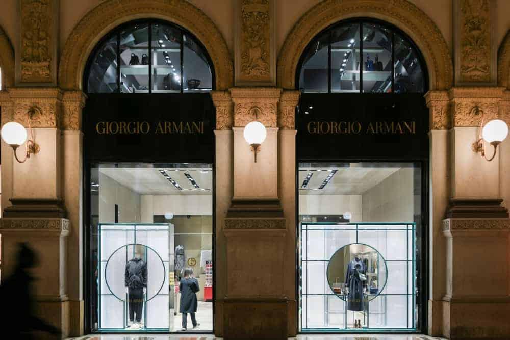 Giorgio Armani store in Milan, Italy.