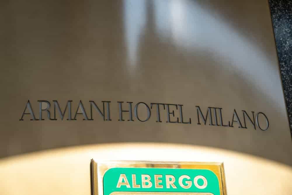 Armani Hotel plaque