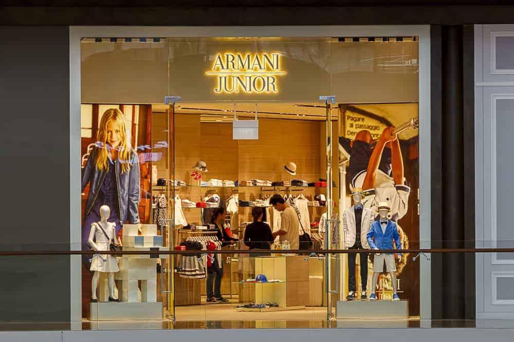 Armani Junior Boutique in Singapore.