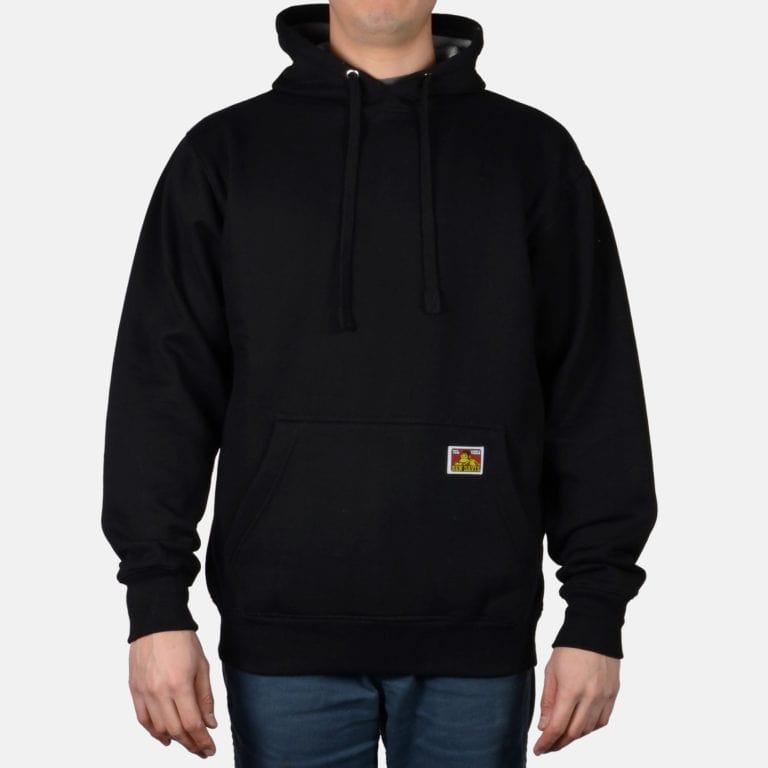 The Heavyweight black hooded sweatshirt from Ben Davis.