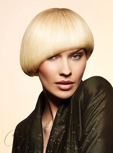 Mushroom Hair Bob Short Straight Wig with Asymmetric Cut from WigsBuy.