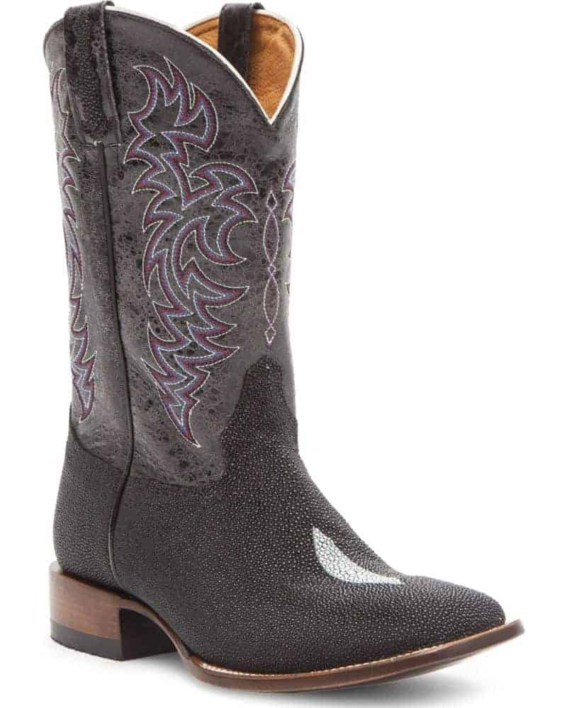 Boot Barn Cody James Men's Stingray Embroidered Exotic Boots - Square Toe