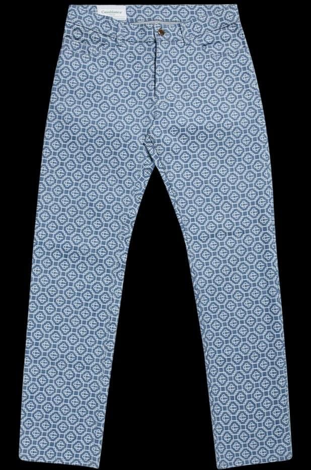 The Monogram Vintage Wash Denim Jeans from Casablanca Tennis Club.