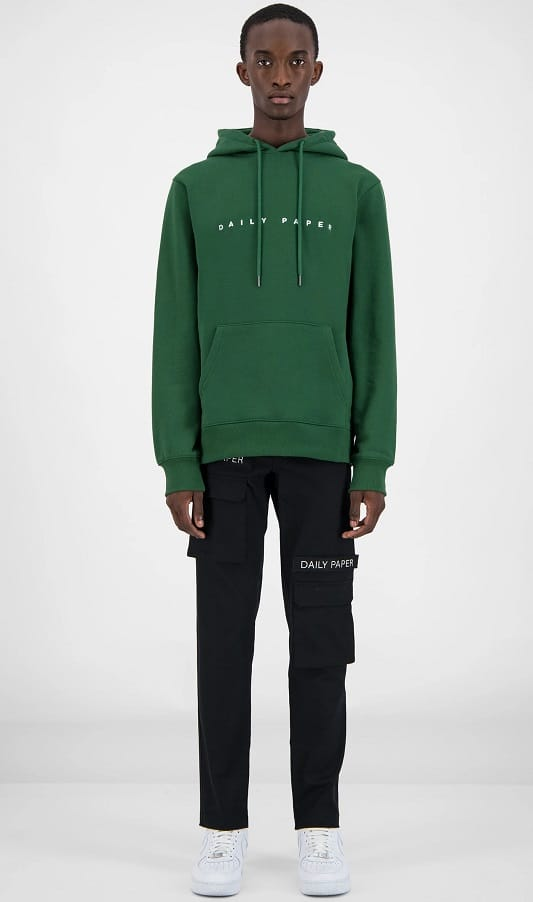 The Daily Paper Alias Hoodie in green.