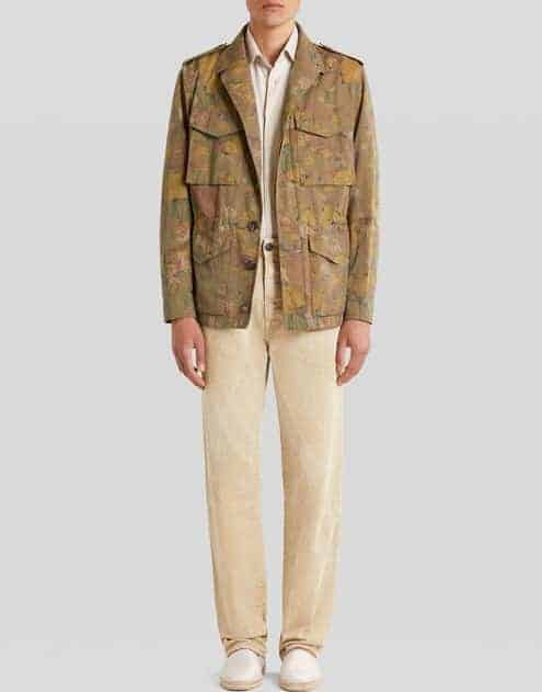 The Floral and Tiger Print Cotton Safari Jacket from Etro.