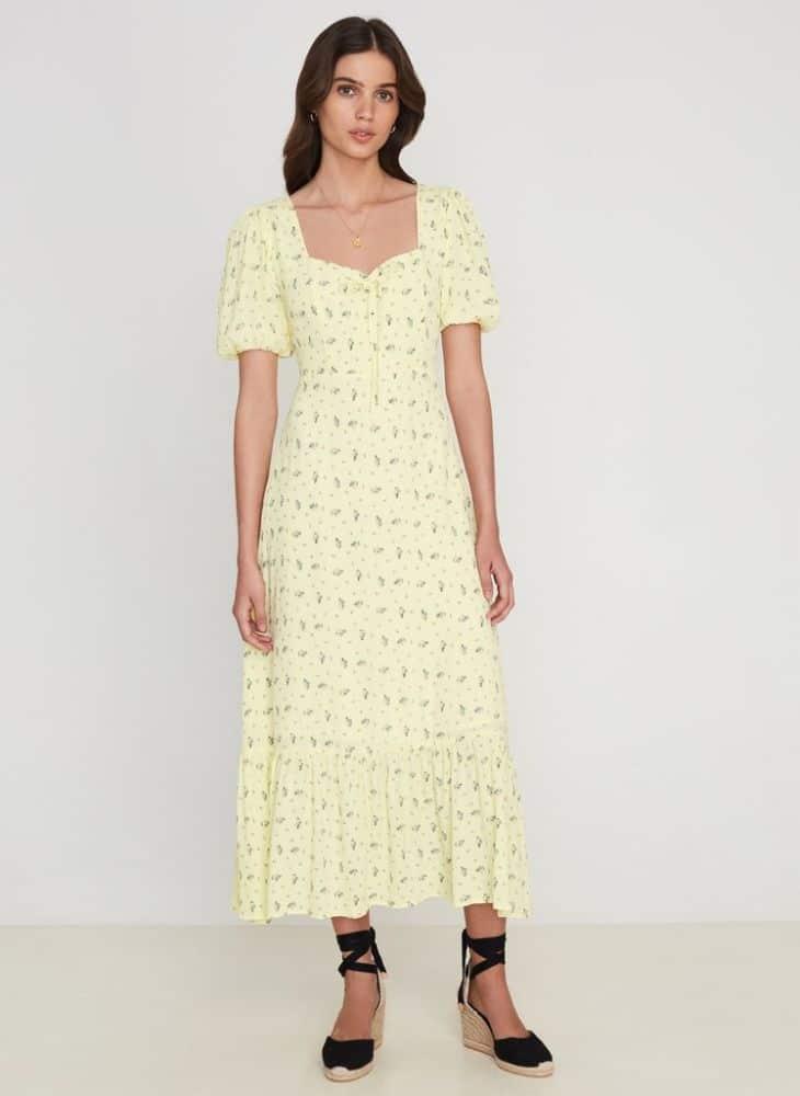 Faithfull the Brand Gabriela Midi Dress La Somita Floral Print