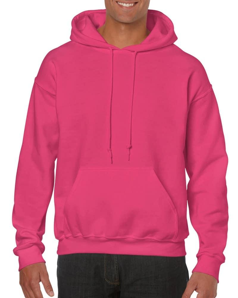 The Men's Hooded Sweatshirt from Gildan in pink.