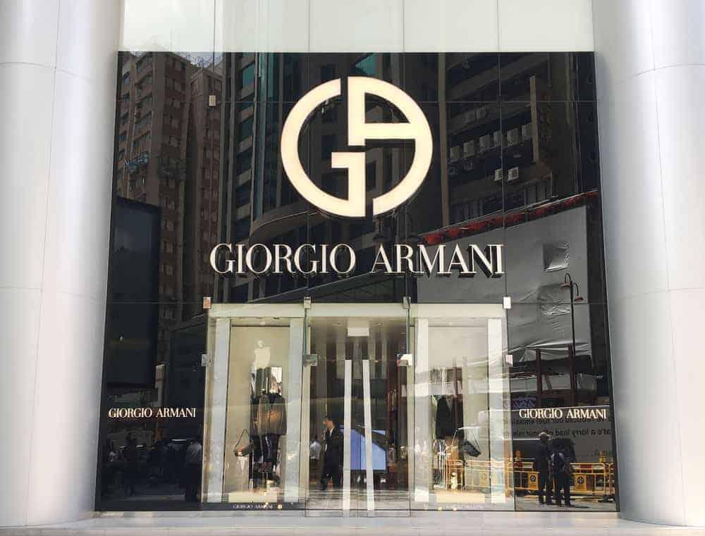 Giorgio Armani store in Canton Road.