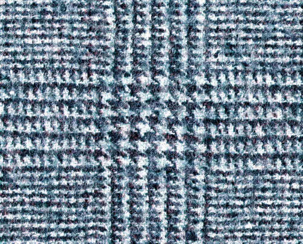 Wool fabric in glen check pattern.