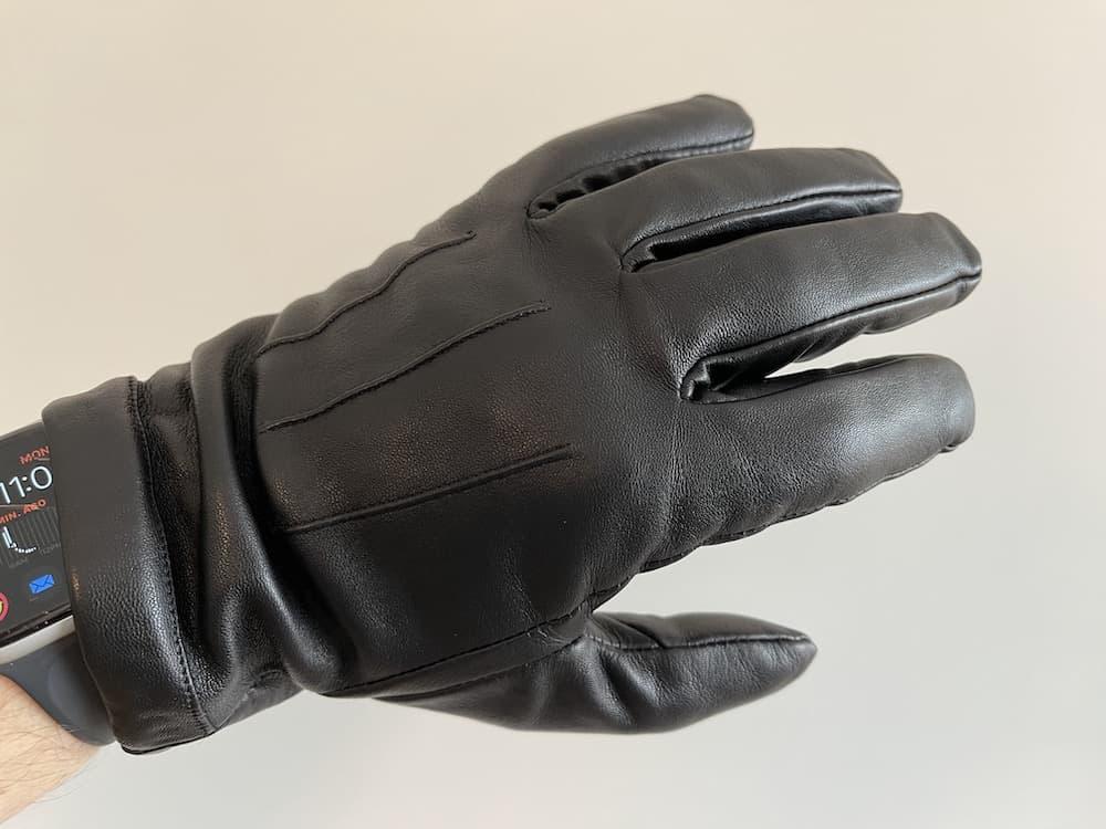 Downholme black leather gloves