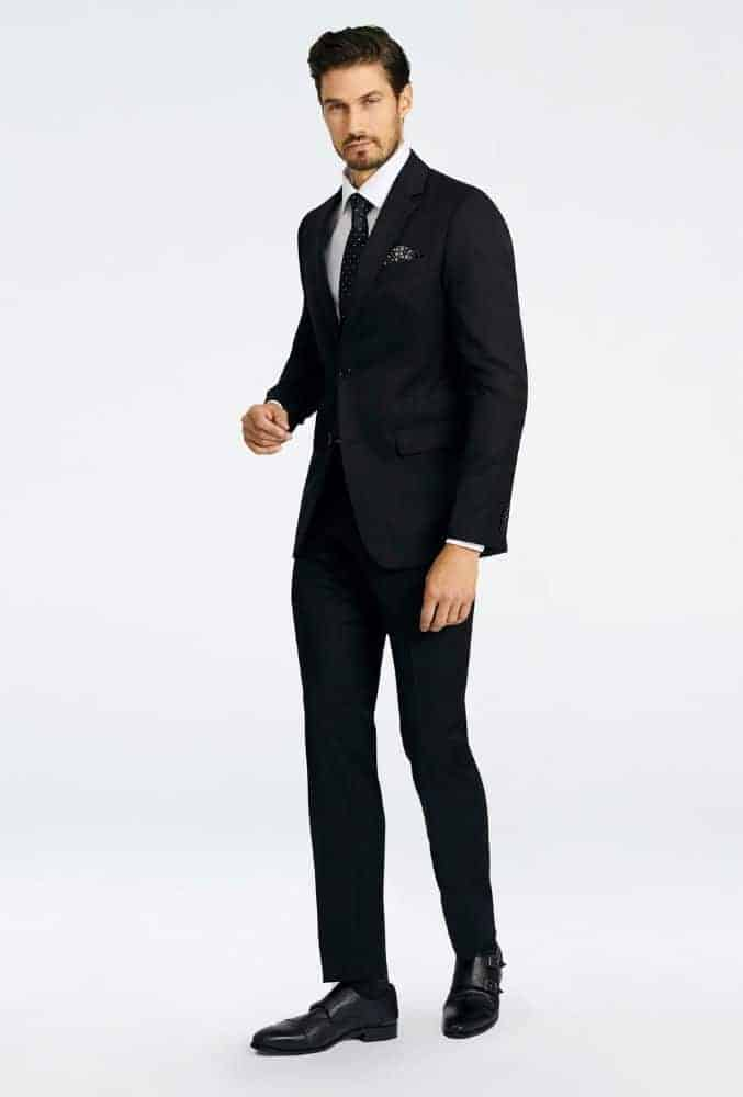 Indochino Hereford Cavalry Twill Black Suit