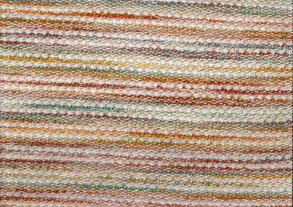 Knitted texture of a jacquard woven fabric.
