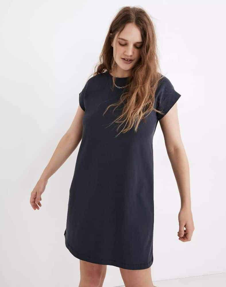 Madewell Cap-Sleeve Tee Dress