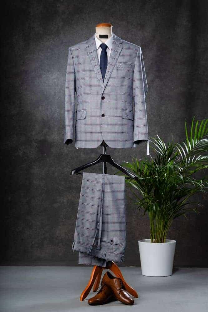 Men's suit on a mannequin.