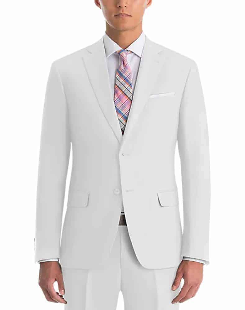 Men's Warehouse Lauren by Ralph Lauren White Classic Fit Linen Suit Separates