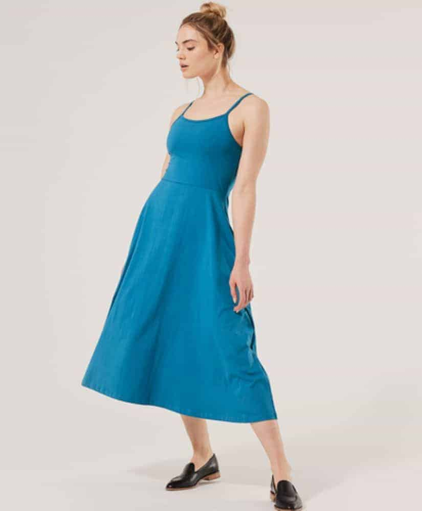 Pact Fit & Flare Strappy Midi Dress