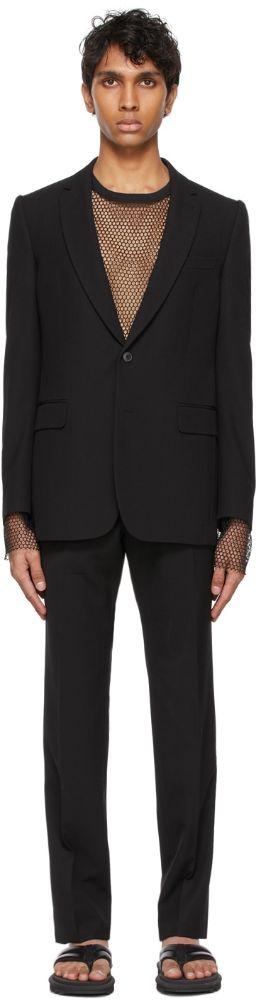 SSENSE Dries Van Noten Black Twill Suit