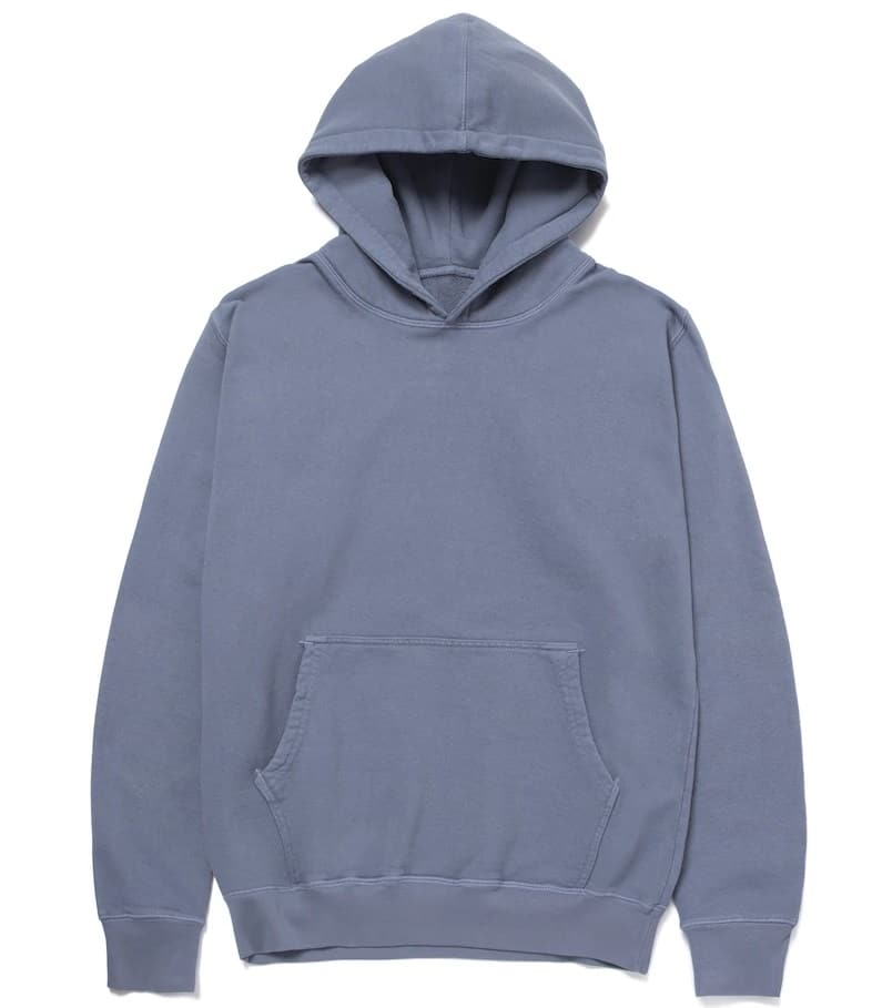 The Standard Issue Tees Standard Hoody in charcoal forest.