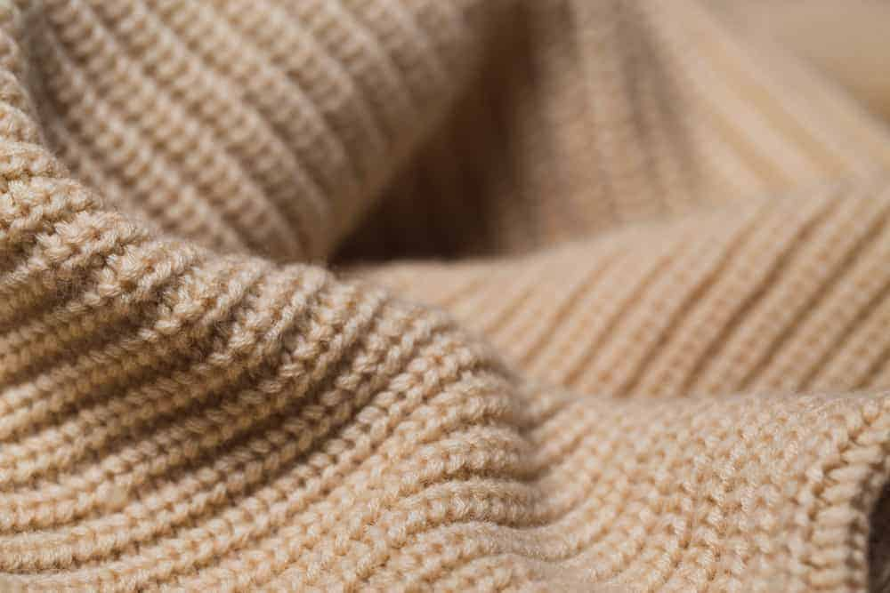 Knitted fabric wool texture