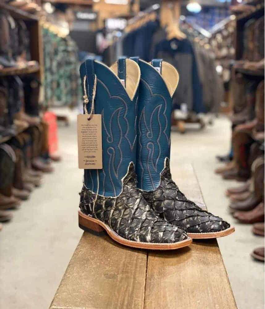 Texas Boot Company Men's Anderson Bean Brown Raven Big Bass