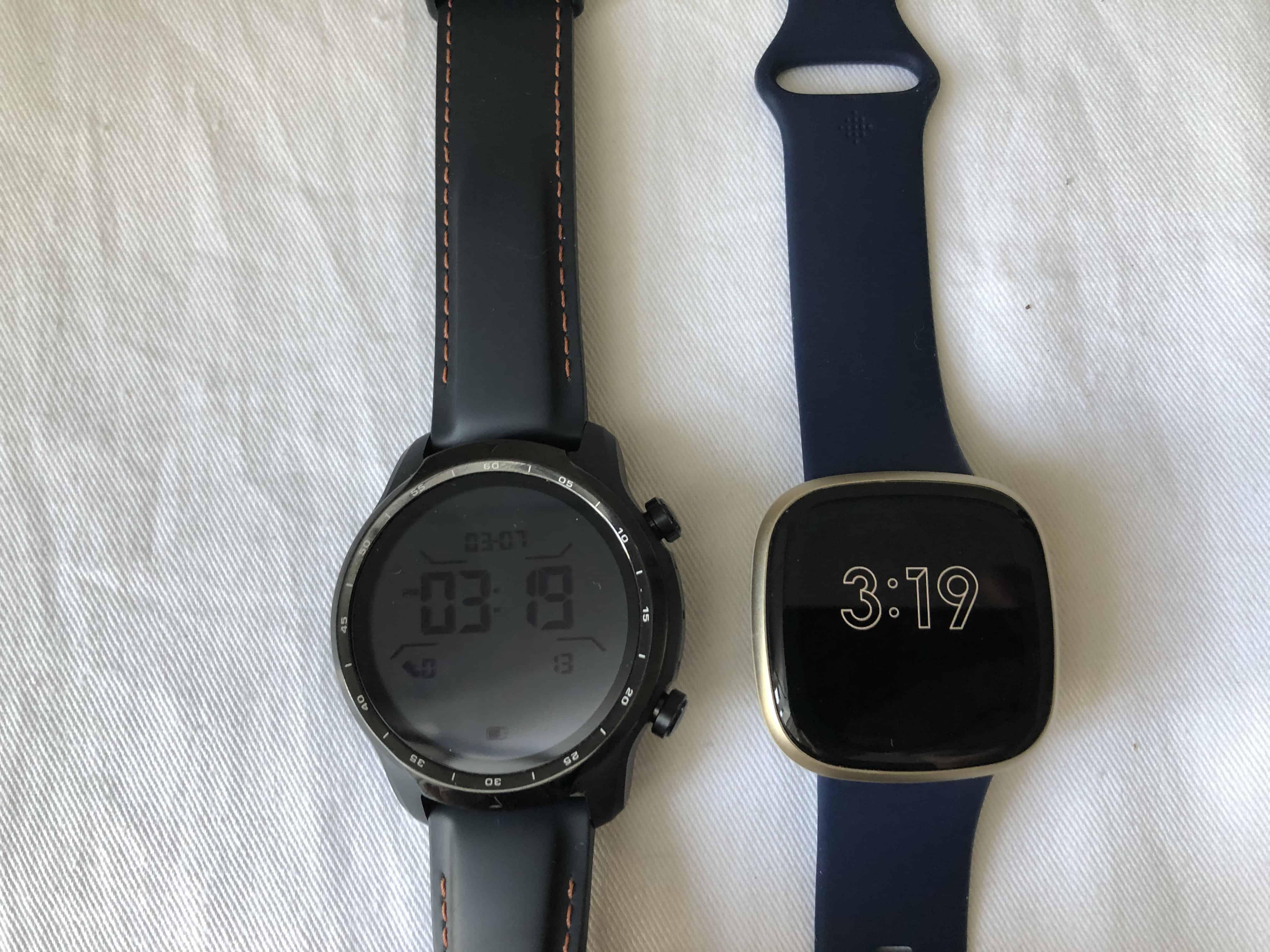 ticwatch pro 3 vs fitbit versa 3