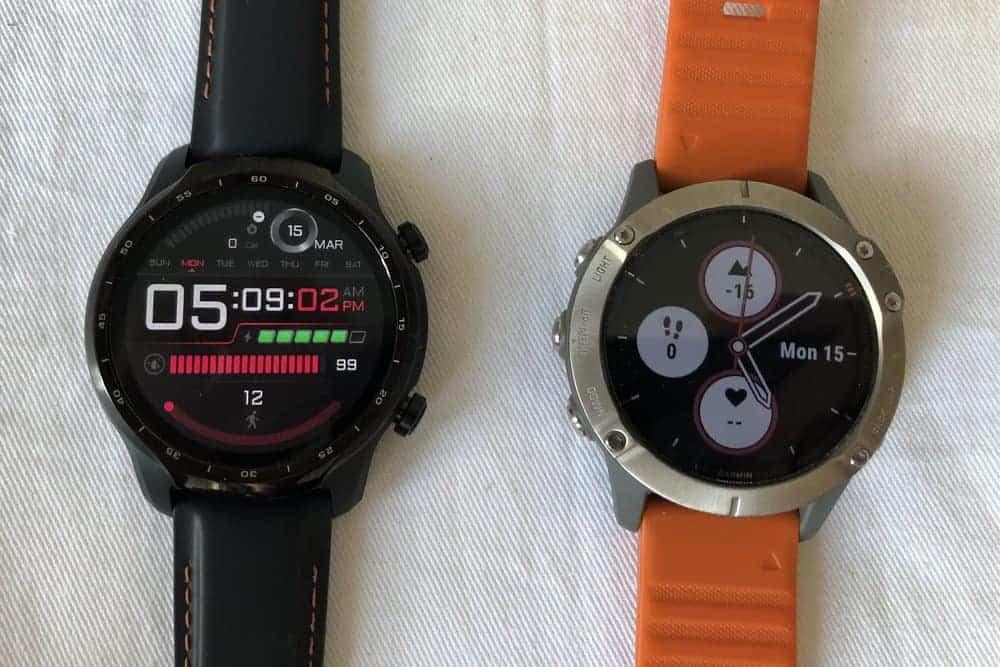 ticwatch pro 3 vs garmin fenix 6