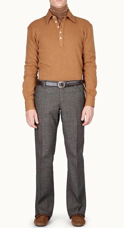 The shirt in mixed wool beige from Tod's.