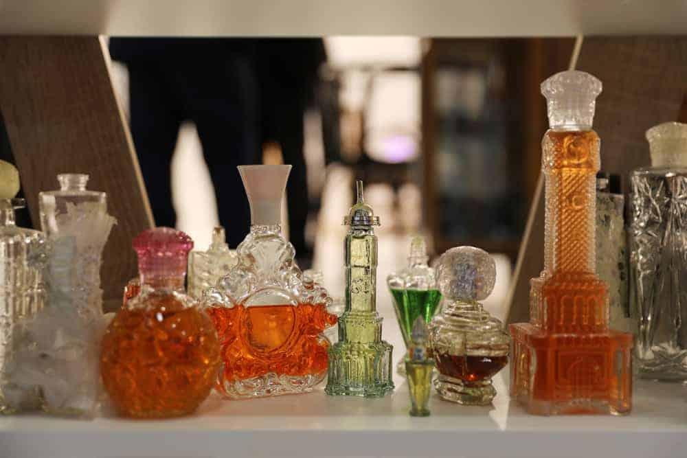 Bottles of colognes