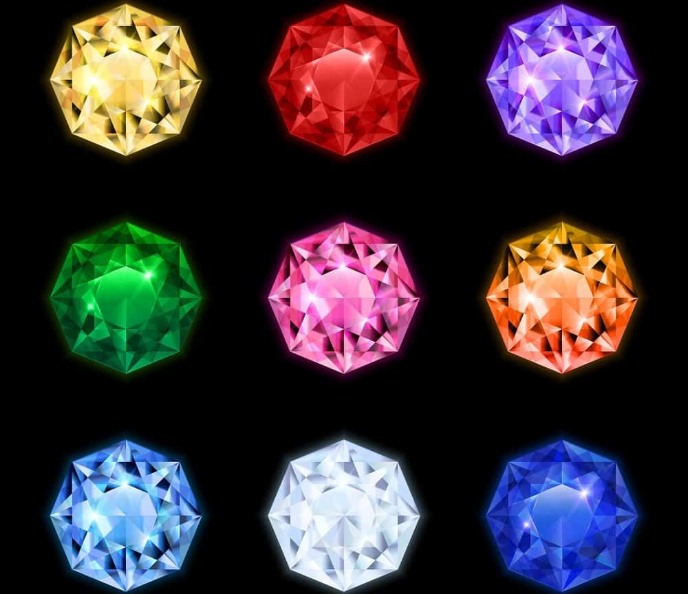 A look at a variety of natural colored diamonds.