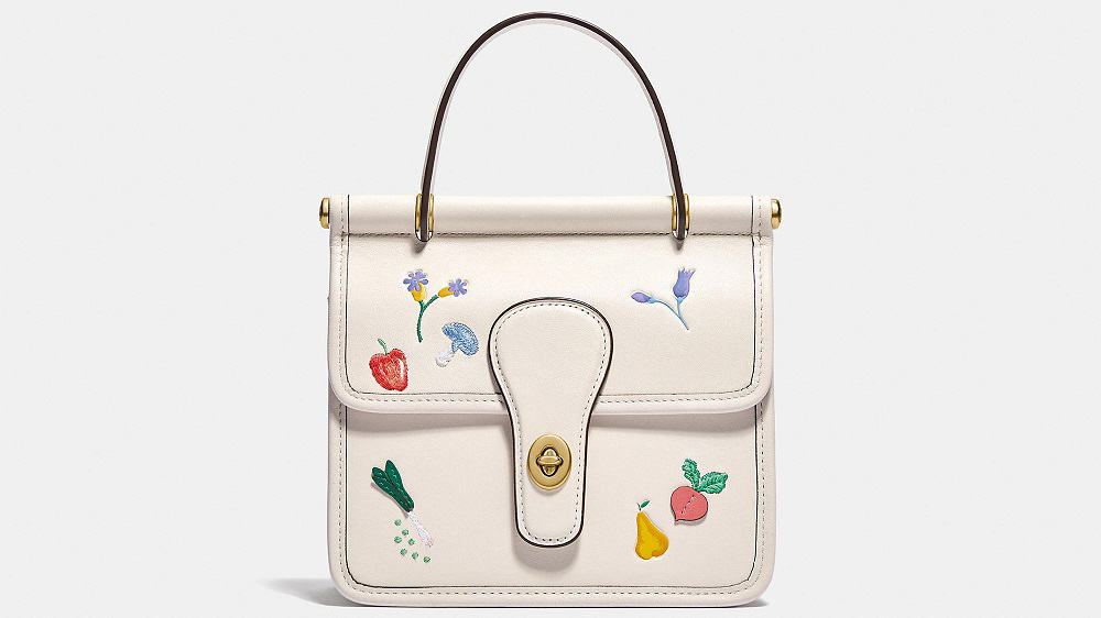 The Willis Top Handle 18 with Garden Embroidery handbag from Coach.