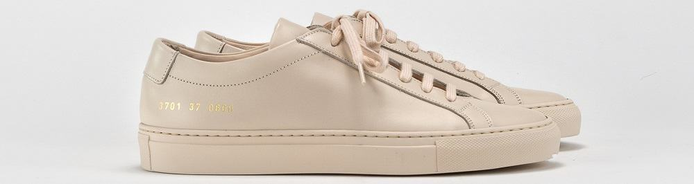A pair of women's sneakers from Common Projects.