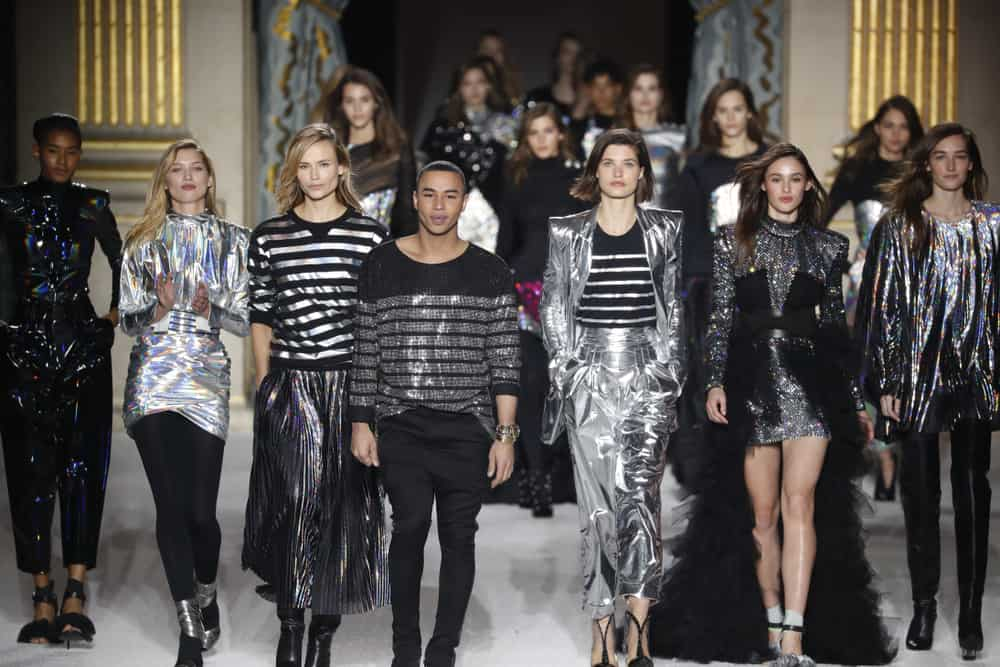 This is the 2018 finale of the Balmain fashion show in Paris.