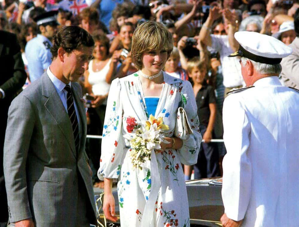 Princess Diana waring a Sloane ranger dress.
