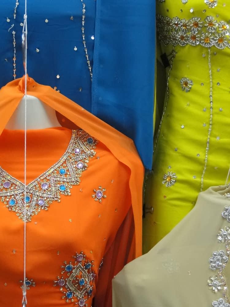 This is a close look at various saree dresses made of Himru Brocade fabrics.