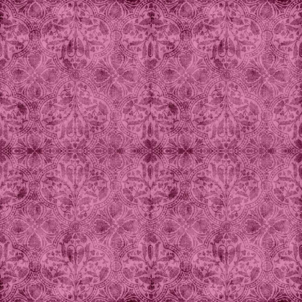 This is a close look at a pink and patterned piece of Tapestry Brocade fabric.