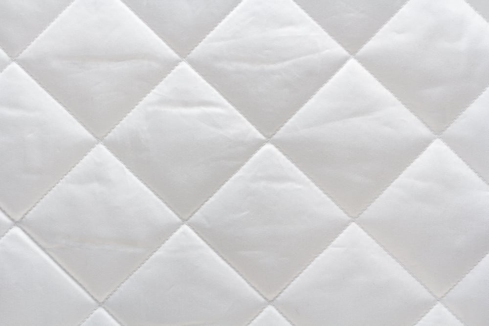 This is a close look at a quilted cotton fabric with patterns.